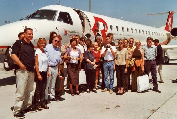 Juni 2000  Teilnehmende der Wien-Reise des Liechtensteiner Presseclubs