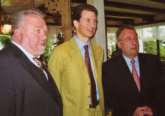 05. Juli 2004, Besuch von Erbprinz Alois von und zu Liechtenstein beim Liechtensteiner Presseclub