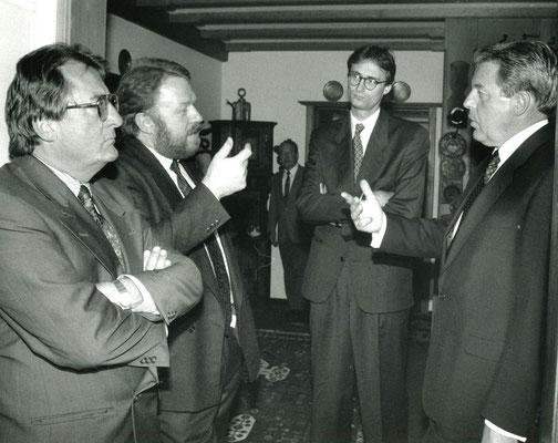 6. Juni 1991, Besuch von Franz Vranitzky, Österreichischer Bundeskanzler, beim Liechtensteiner Presseclub, 06.06.1991, Foto: Roland Korner, Triesen
