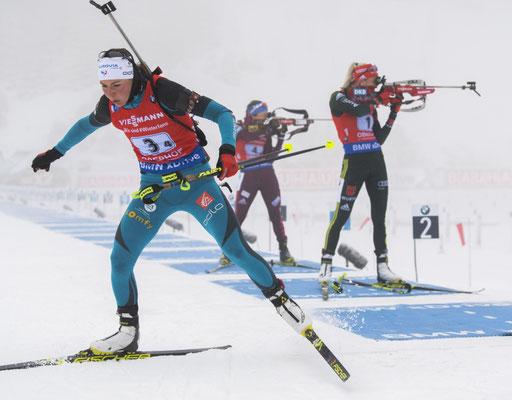 Biathlon - ski de fond et tir à la carabine (sce : RMC Sport - BFMTV)
