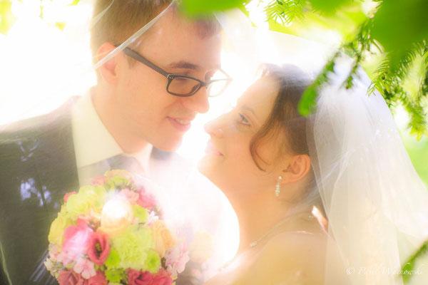 Brautpaar Portrait Sonne