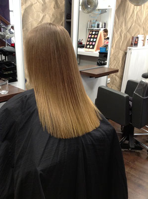 Kerasilk Haarglättung Nachher