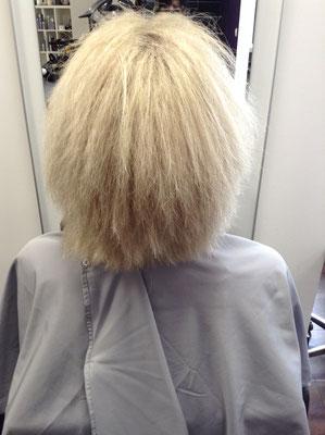 Kerasilk Haarglättung Vorher