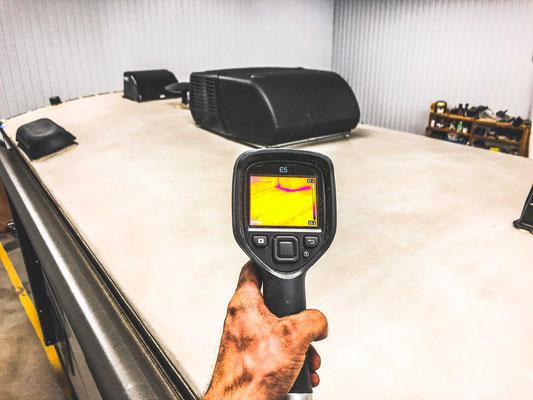 Inspection de vr, inspection de roulotte