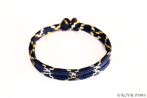 GLITZER marineblau / gold