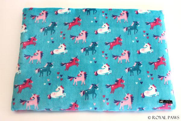 turquoise with unicorns