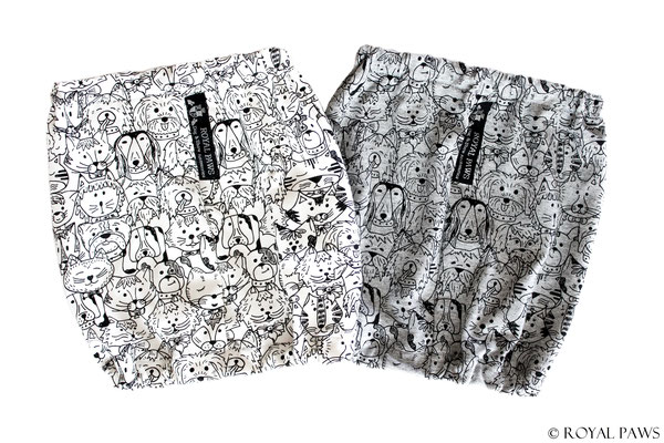 "Comic ""DOGS & CATS"" cream, Comic ""DOGS & CATS"" grey"