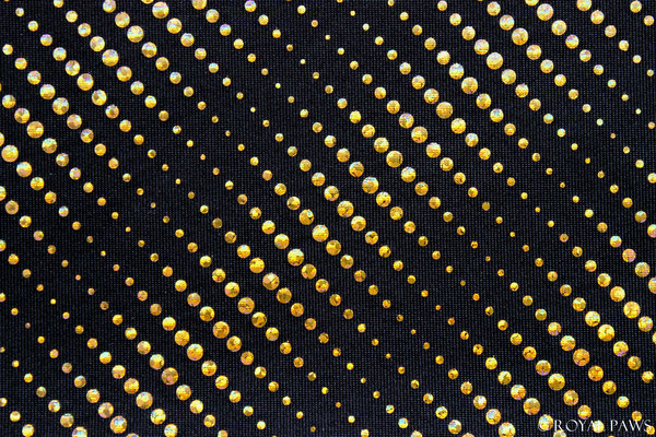 """black with gold holo-dots """"DIAGONAL"""" (Dot size 1 - 3 mm)"""