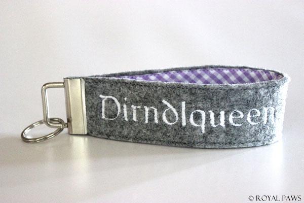 Felt: light grey / Fabric: lilac-white checkered