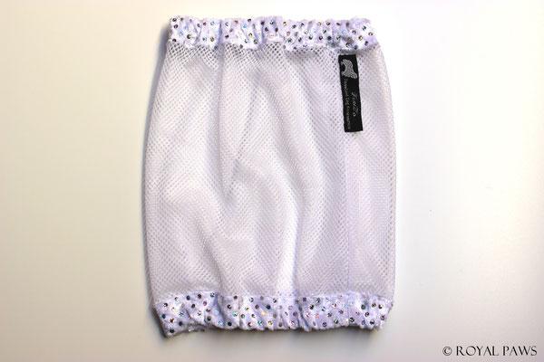 Net: white / Panne velvet: white with glitter