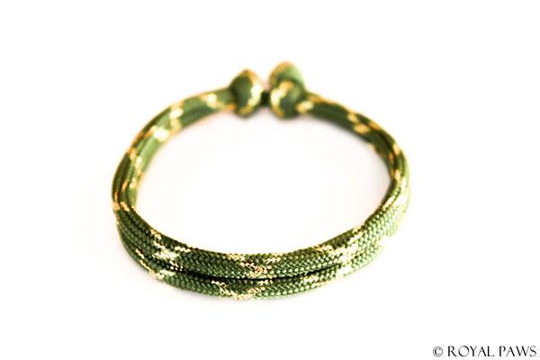 GLITTER olive green / gold