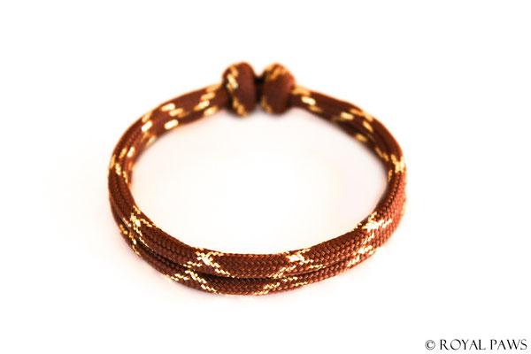 GLITZER braun / gold