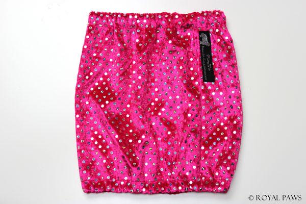 pink Pannesamt mit pink Holo-Pailletten