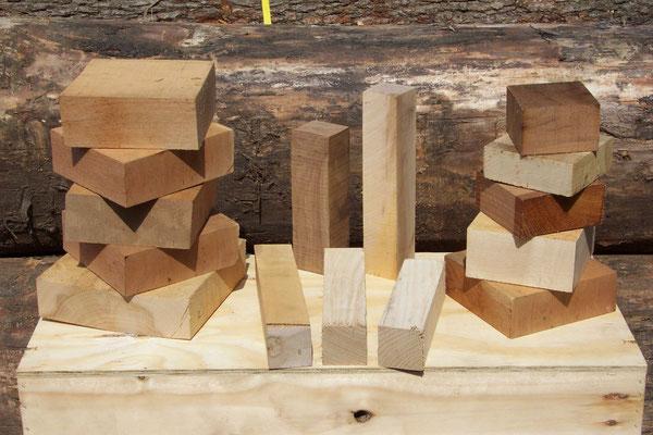 Drechselholz, heimische Holzarten, exotische Holzarten