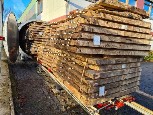 Parota Table tops Hamburg warehouse kiln dried