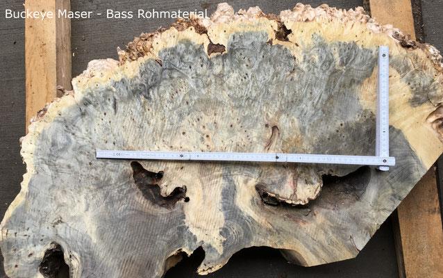Buckeye Maser aus Kalifornien, Rohware Bassbau