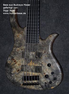 Buckeye Maser Bass gefertigt von Siggi Jäger Humanbase