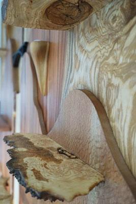 Wandbildregal versch. Holzarten - Christine Puschendorf