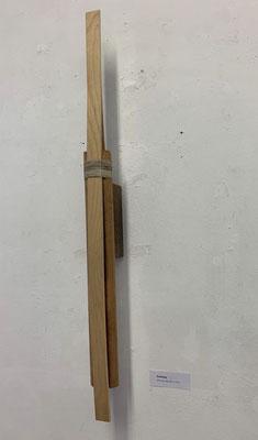 Prototyp, Holz und Zwirn, 89 x 7 x 10 cm