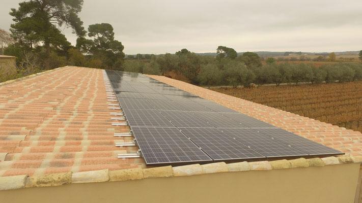toiture panneau photovoltaique claret