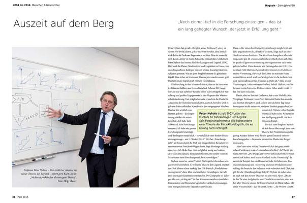 Professor Peter Nyhuis, Leiter Institut für Farbikanlagen und Logistik (IFA)