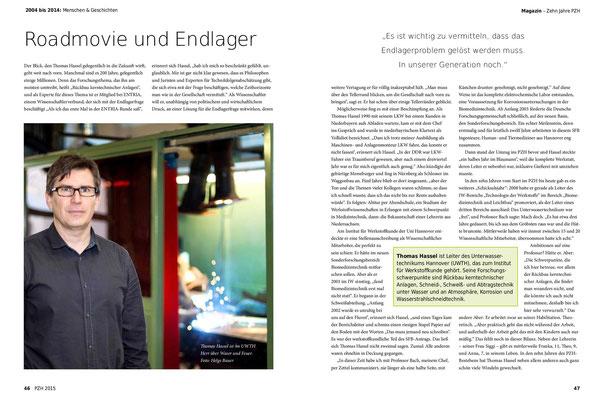 Thomas Hassel, Leiter Unterwassertechnikum (UWTH)