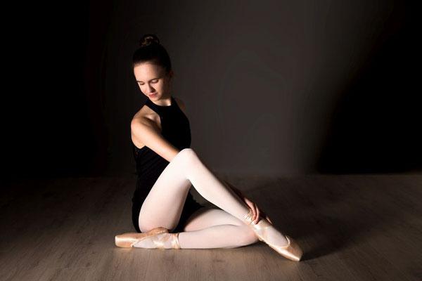 Balletttänzerin im Studio