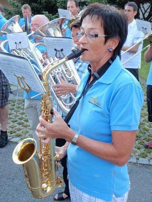 die Saxophonistin