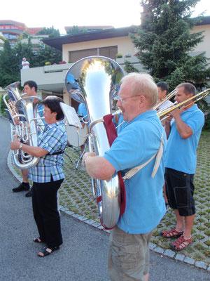 """die """"Hörner"""" F-Horn-, Euphonium-, TubaspielerInnen"""
