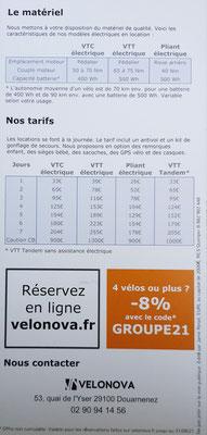 Preise und Tarife Fahrradverleih Bretgagne