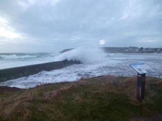 Hafen Primelin Sturm