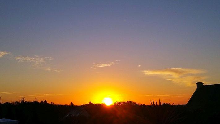 Sonnenuntergang Primelin