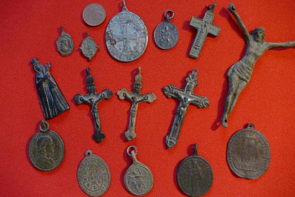 Sammlung Devotionalien/ Heiligenanhänger