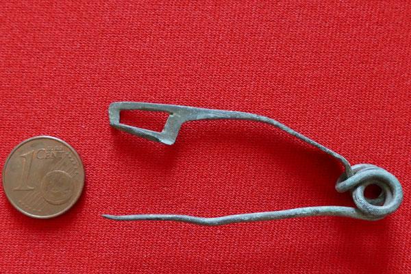 Bronzefibel - 2./1. Jh. vor Chr. - Länge 5,8 cm - Nauheimer Fibel