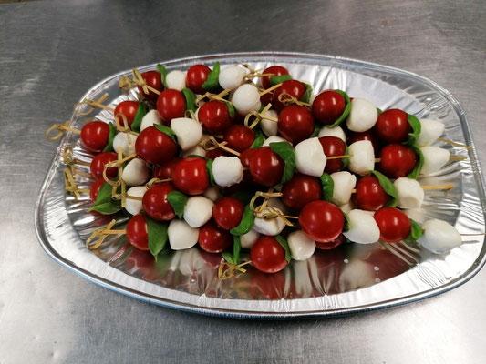Tomaten Mozarella Spieße
