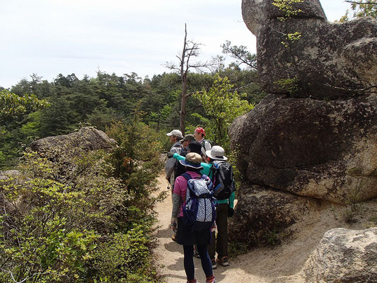 天狗岩を後にして、次は龍王山を目指します