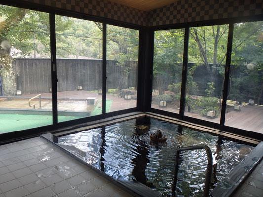 ヴィラ雨畑の温泉。安くてきれいで静か。良い施設でした