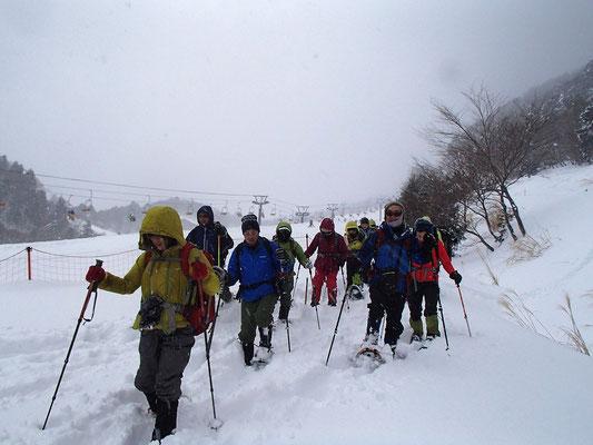 朽木スキー場の所に出てきました