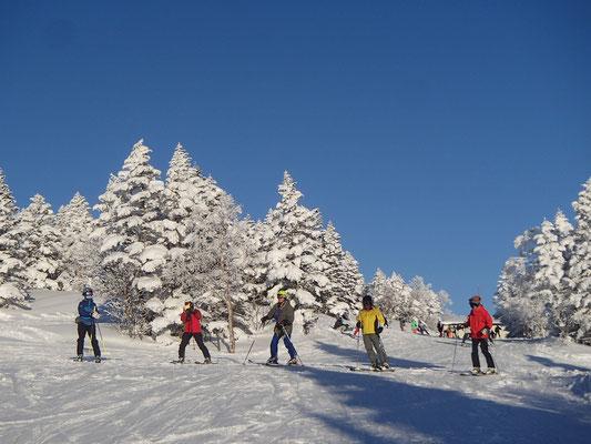 焼額スキー場を滑ります