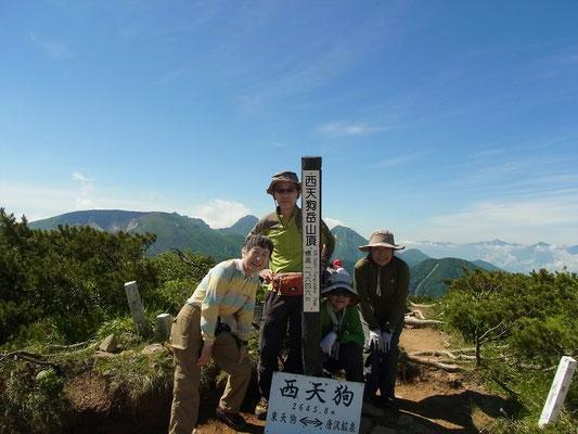 西天狗岳(2,645.8m)にて