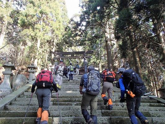 今年は愛宕神社への石段は、雪も氷もなしでした