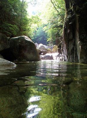 赤坂谷に入るとすぐにこのようなところが現れます