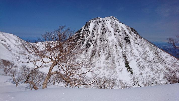 外輪山(稜線)に到着すると眼前に妙高山本峰