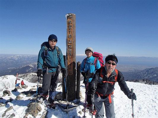 武奈ヶ岳山頂に到着