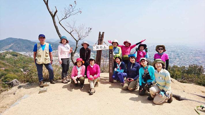 鉄拐山山頂(234m)にて