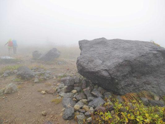 ほぼ山頂です  ここも岩が転がっています。