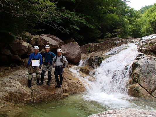 赤坂谷上流にて