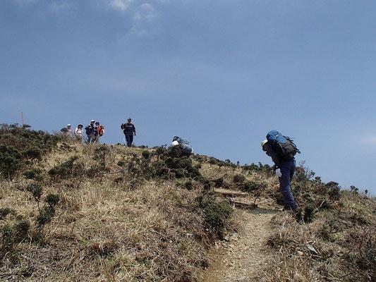 ブナヶ岳に向けての最後の登り