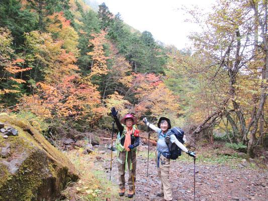 オーレン小屋までの登山道脇の紅葉