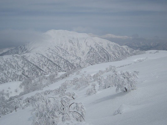 山頂からの荒島岳